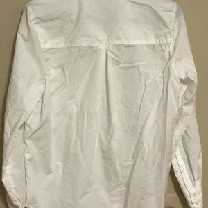White tailored women's button up lucky brand med